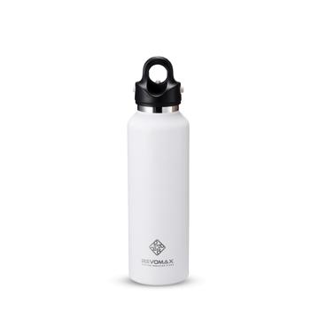 「指3本」で密閉できる魔法瓶|《592ml》炭酸もビールも36時間保冷、保温も18時間OKの「マイボトル」|REVOMAX|マットホワイト