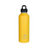 「指3本」で密閉できる魔法瓶|《950ml》炭酸もビールも36時間保冷、保温も18時間OKの「マイボトル」|REVOMAX|LEMON YELLOW