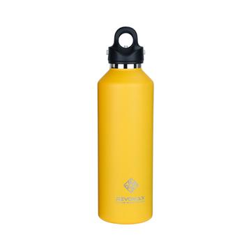 「指3本」で密閉できる魔法瓶|《950ml》炭酸もビールも36時間保冷、保温も18時間OKの「マイボトル」|REVOMAX|レモンイエロー