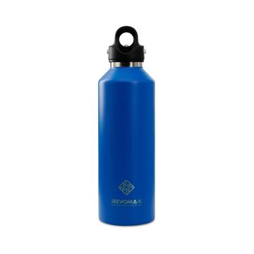 「指3本」で密閉できる魔法瓶|《950ml》炭酸もビールも36時間保冷、保温も18時間OKの「マイボトル」|REVOMAX|ジュエリーブルー