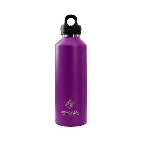 「指3本」で密閉できる魔法瓶|《950ml》炭酸もビールも36時間保冷、保温も18時間OKの「マイボトル」|REVOMAX|ライラックパープル
