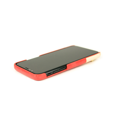 "iPhoneに""素肌""の気持ち良さ|革作りから手がけ、iPhoneとの「完璧な調和」を追求したDリング付きスマホケース(ストラップ別売)|Alto(iPhone X,XS,XR対応)|iPhoneXS(X対応)|Coral"
