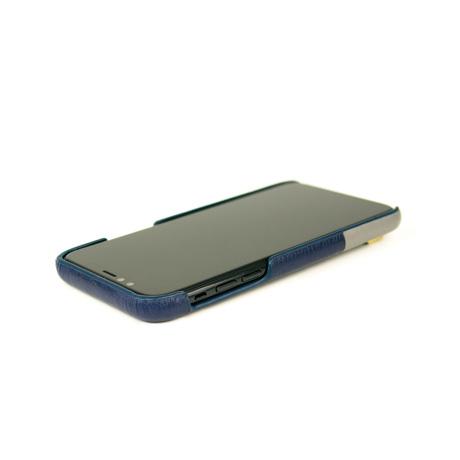 "iPhoneに""素肌""の気持ち良さ|革作りから手がけ、iPhoneとの「完璧な調和」を追求したDリング付きスマホケース(ストラップ別売)|Alto(iPhone X,XS,XR対応)|iPhoneXR|Navy"