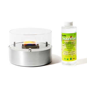 《スターターセット/直径180mm》煙が出ず、倒しても安心の特殊燃料で手軽に楽しめる!「オイルランプMサイズ+専用燃料(500ml)」|TENDERFLAME