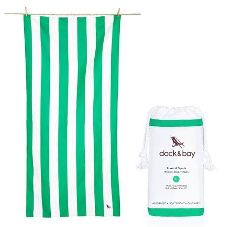 世界のビーチから生まれた「バカンスタオル」|《ビーチタオル》水をサッと吸収、砂がつかないマイクロファイバー製のカラフルタオル|DOCK & BAY|CANCUN GREEN