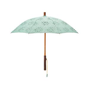 《日傘・長傘》大人の女性が持ちたい、あじさい柄の刺繍が優雅な日傘|Bon Bon Store
