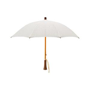 《日傘・長傘》大人の女性が持ちたい、ドット柄の刺繍が優雅な日傘|BON BON STORE