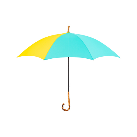 """日差しも雨も""""楽しむ""""!Bon Bon Storeの傘 《晴雨兼用・長傘》大人の女性が持ちたい、バイカラーがおしゃれな晴雨兼用傘 Bon Bon Store ペパーミントグリーン×イエロー"""