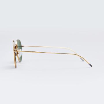 サングラス選びの3条件|《MEDIUM/レンズ幅51mm》風船で浮くほど軽い、フィット感抜群、踏んでも元に戻るβチタンフレームのサングラス|RAWROW R SUN 300|MEDIUM(GOLD/在庫限り)