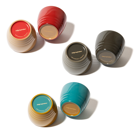 惣菜が「映える法則」を発見!|《ペアセット/MONOCO限定》誰でもきれいに盛り付けができる、漆のあたたかい色彩。225年続く越前漆器の老舗がつくる「色漆のそば猪口」| 漆琳堂×MONOCO