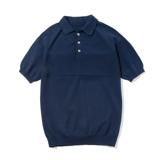 おしゃれポロの新定番は「和紙」|汗でベタつかない、匂わない、綿より軽い!三拍子揃った「ニットポロシャツ」|伊予和紙ポロシャツ|ネイビー|Mサイズ