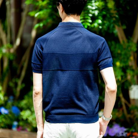 おしゃれポロの新定番は「和紙」|汗でベタつかない、匂わない、綿より軽い!三拍子揃った「ニットポロシャツ」|伊予和紙ポロシャツ