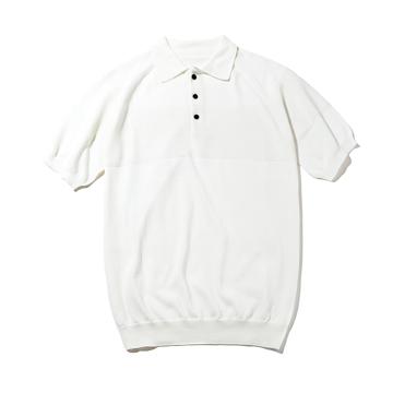 おしゃれポロの新定番は「和紙」|汗でベタつかない、匂わない、綿より軽い!三拍子揃った「ニットポロシャツ」|伊予和紙ポロシャツ|白|XLサイズ