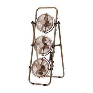 角度自在の3つのファンで室温ムラを解消!畳めるサーキュレーター|Metal Triple Fan
