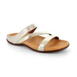 スニーカー感覚で歩き回れる「サンダル」|TRIO / UK3(22-22.5cm) 独自開発の立体インソールで、スニーカーみたいに歩き回れる「サンダル」|strive|ゴールドメタリック