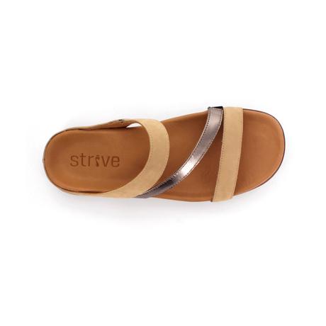 スニーカー感覚で歩き回れる「サンダル」|TRIO / UK3(22-22.5cm) 独自開発の立体インソールで、スニーカーみたいに歩き回れる「サンダル」|strive|オックスフォードタン&ピューターメタリック