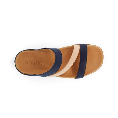 スニーカー感覚で歩き回れる「サンダル」|TRIO  / UK5(24-24.5cm) 独自開発の立体インソールで、スニーカーみたいに歩き回れる「サンダル」|strive|ネイビー&ローバッグ