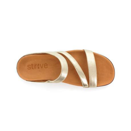 スニーカー感覚で歩き回れる「サンダル」|TRIO  / UK6(25-25.5cm) 独自開発の立体インソールで、スニーカーみたいに歩き回れる「サンダル」|strive|ゴールドメタリック