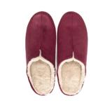 寒い日も、スキップしたくなる『スリッパ』|靴の製法でつくったから、ボアつきなのに歩きやすい「モコモコスリッパ」|room's moco|レッド/L(25-27cm)