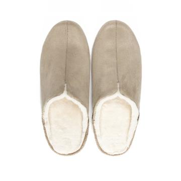 寒い日も、スキップしたくなる『スリッパ』|靴の製法でつくったから、ボアつきなのに歩きやすい「モコモコスリッパ」|room's moco|ベージュ/L(25-27cm)
