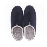 寒い日も、スキップしたくなる『スリッパ』|靴の製法でつくったから、ボアつきなのに歩きやすい「モコモコスリッパ」|room's moco|ネイビー/M(22.5-24.5cm)