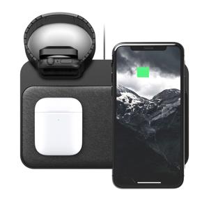 "iPhone、Apple Watch、AirPodsを3台まとめて、""飾る""ようにチャージできる「ワイヤレス充電ベース」| NOMAD | Base Station(Apple Watch Edition)"