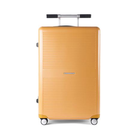 """一緒に""""歩きたい""""スーツケース 《Type B/88L》手を添えるだけで滑らかに走行、""""気の利く""""設計であなたの旅路に寄り添うスーツケース(7泊〜) RAWROW マスタード(在庫限り)"""