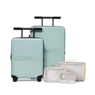 《LITE》大小ふたつのサイズを「入れ子収納」できる、機内持ち込み用(37L)&長期旅行用(72L)スーツケースセット| RAWROW | R TRUNK LITE