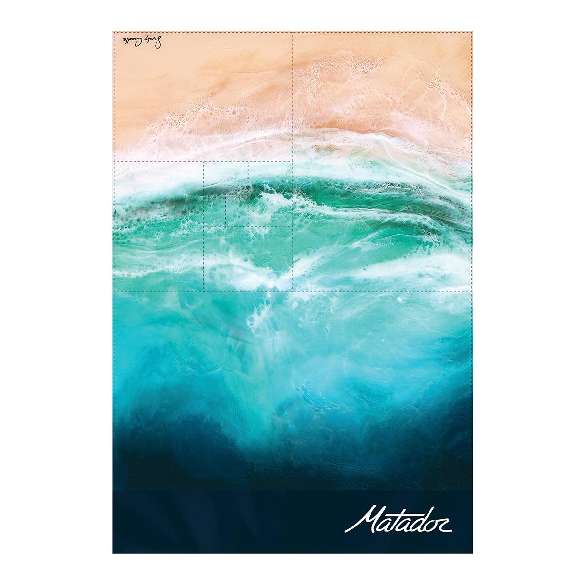 手のひらサイズになる大容量バッグ 《2019年限定モデル/2〜4人用》広げるだけで、どこでもビーチ気分!手のひらサイズにたためる撥水仕様のレジャーシート「OCEAN」 Matador POCKET BLANKET