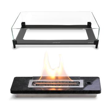 ≪ウインドガードつき≫安全な専用燃料で、煙が出ない、テーブルに置ける「焚き火」|LOVINFLAME