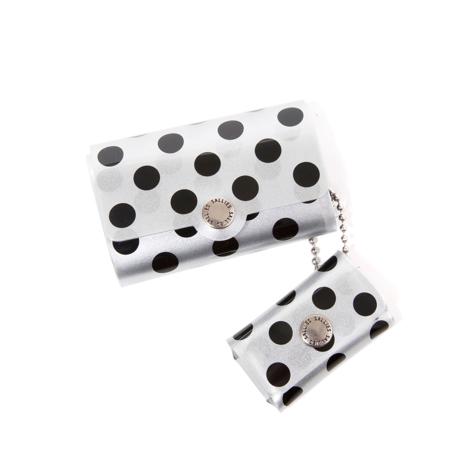 大人のための『遊びウォレット』|《シルバーコレクション》これひとつで、ジム・旅行・アウトドアへ!ミニマム構造がかなえる、軽量&収納力の「ミニ財布」|SALLIES|ドット/ブラック