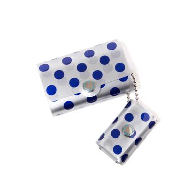 大人のための『遊びウォレット』|《シルバーコレクション》これひとつで、ジム・旅行・アウトドアへ!ミニマム構造がかなえる、軽量&収納力の「ミニ財布」|SALLIES|ドット/ブルー