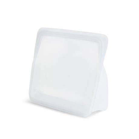 3000回加熱・冷凍できる密閉シリコンバッグ|《1059ml/スタンドアップ》密閉保存から調理まで、これひとつで完結!たっぷり容量で自立もするマルチバッグ|stasher|クリア