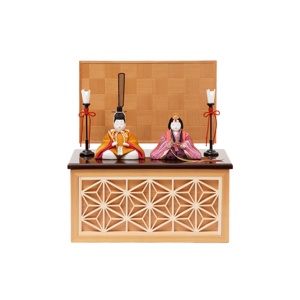 *購入特典付*《鹿沼組子 - 四角形(小)》7つの日本伝統工芸をコンパクトにした、木目込みプレミアム雛人形 | 宝想雛