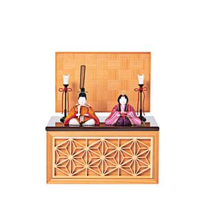 《四角形/小》5つの日本伝統工芸をコンパクトモダンにした、江戸木目込の「プレミアム親王飾り」※第一期受注分|柿沼人形|宝想雛