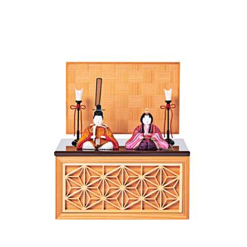 毎年のしあわせを願う「リビング雛人形」|《四角形/小》5つの日本伝統工芸をコンパクトモダンにした、江戸木目込の「プレミアム親王飾り」※第一期受注分|柿沼人形|宝想雛