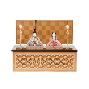 *今期完売*《鹿沼組子 - 四角形(中)》7つの日本伝統工芸をコンパクトにした、木目込みプレミアム雛人形 | 宝想雛