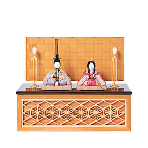 《四角形/中》5つの日本伝統工芸をコンパクトモダンにした、江戸木目込の「プレミアム親王飾り」※第一期受注分|柿沼人形|宝想雛
