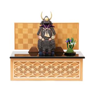 《四角形・大》6つの日本伝統工芸をコンパクトにした、木目込の「プレミアム鎧飾り」| 宝輝