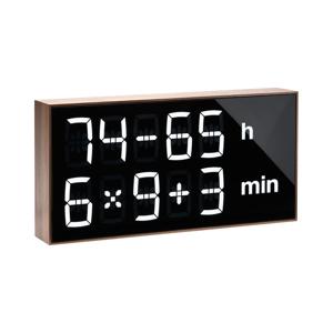 《ウォルナット》インテリアに遊び心を!ゲーム感覚で数式を解いて、時刻を割り出す「デジタル時計」 | Albert Clock 2