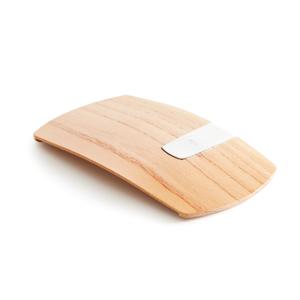 《ケヤキ》カード3枚だけ持って、手ぶら外出できる「木の財布」|Smart Card Clip