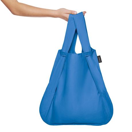 一瞬でリュックになる「変身エコバッグ」|ひっぱるだけ、リュックにもトートにもなる特許構造の「エコバッグ」|notabag|Blue