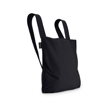 一瞬でリュックになる「変身エコバッグ」|ひっぱるだけ、リュックにもトートにもなる特許構造の「エコバッグ」|notabag|Black