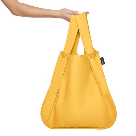 一瞬でリュックになる「変身エコバッグ」|ひっぱるだけ、リュックにもトートにもなる特許構造の「エコバッグ」|notabag|Golden
