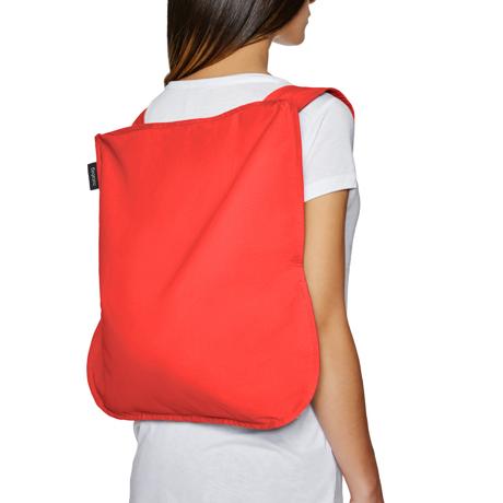 一瞬でリュックになる「変身エコバッグ」|ひっぱるだけ、リュックにもトートにもなる特許構造の「エコバッグ」|notabag|Red