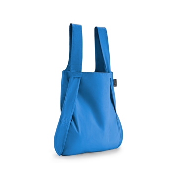 一瞬でリュックになる「変身エコバッグ」|ひっぱるだけ、リュックにもトートにもなる特許構造の「エコバッグ」|notabag|Blue(在庫限り)