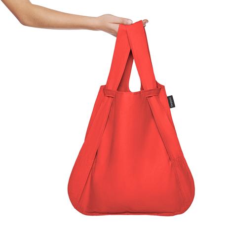 一瞬でリュックになる「変身エコバッグ」|ひっぱるだけ、リュックにもトートにもなる特許構造の「エコバッグ」|notabag