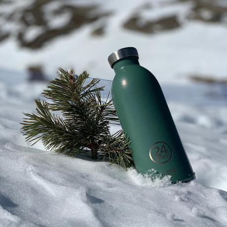"""まだ、「ペットボトルの水」 買ってるの? 《CLIMA-500ml》""""私らしさ""""を選べる、イタリアンデザイン光る「マイボトル」 24Bottles MOSS GREEN"""
