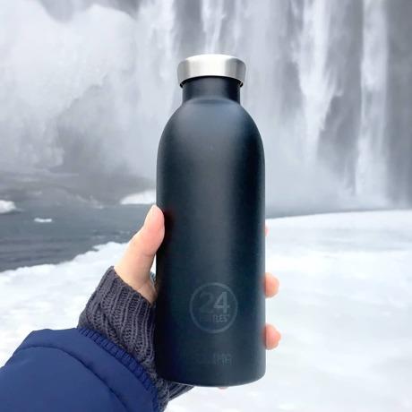 """まだ、「ペットボトルの水」 買ってるの? 《CLIMA-500ml》""""私らしさ""""を選べる、イタリアンデザイン光る「マイボトル」 24Bottles DEEP BLUE"""