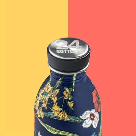 """まだ、「ペットボトルの水」 買ってるの? 《URBAN-500ml》""""私らしさ""""を選べる、イタリアンデザイン光る「マイボトル」 24Bottles DENIM BOUQUET"""